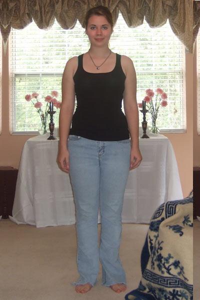 Photographic Height/Weight Chart - 5' 7